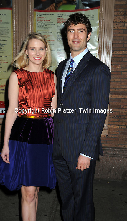 honoree Marissa Mayer and fiance Zach Bogue