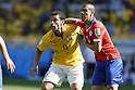 (L-R) Fred (BRA), Francisco Silva (CHI), JUNE 28, 2014 - Football / Soccer : FIFA World Cup Brazil 2014 round of 16 match between Brazil and Chile at the Mineirao Stadium in Belo Horizonte, Brazil. (Photo by AFLO)