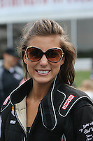 May 11, 2013; Commerce, GA, USA: NHRA top fuel dragster driver Leah Pruett during the Southern Nationals at Atlanta Dragway. Mandatory Credit: Mark J. Rebilas-