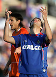 Getafe's Lucas Licht reacts during La Liga match, March 22, 2009. (ALTERPHOTOS/Alvaro Hernandez).