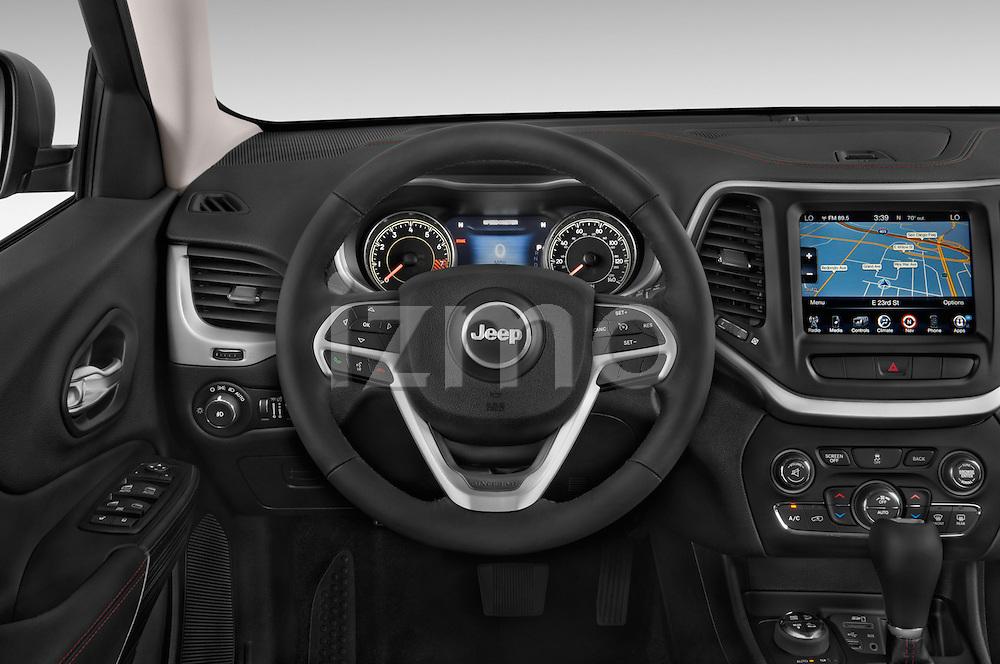 Car pictures of steering wheel view of a 2017 Volkswagen Cherokee Trailhawk 4X4 5 Door SUV