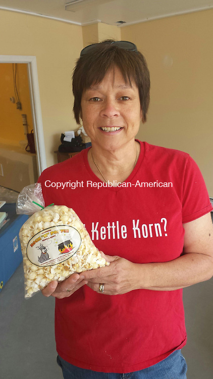 THOMASTON, CT, 21 May 2015 - 052115LW01 - Marguerite Case stands in her new store, Plymouth Kettle Corn, at 102 East Main St. in Thomaston. Laraine Weschler Republican-American