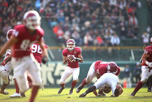 "Yuto Nishiyama, DECEMBER 13, 2015 - American Football : All Japan American Football college Championship final match ""Koshien Bowl"" between Waseda University ""Big Bears"" 27 - 28 Ritsumeikan University ""Panthers"" at Koshien Stadium in Hyogo, Japan. (Photo by AFLO)"