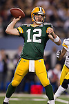 Green Bay Packers quarterback Aaron Rodgers throws a pass during Super Bowl XLV against the Pittsburgh Steelers on Sunday, February 6, 2011, in Arlington, Texas. The Packers won 31-25. (AP Photo/David Stluka)