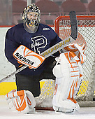 B.J. Sklapsky - Princeton University Tigers took part in their morning skate on Friday, December 30, 2005 before facing the University of Denver in their first game of the Denver Cup at Magness Arena in Denver, Colorado.  Princeton defeated DU that evening 4-1.