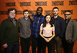 Kenneth Lonergan, Michael Cera, Brian Tyree Henry, Bel Powley, Chris Evans and Trip Cullman backstage at  the Second Stage Theater Broadway lights up the Hayes Theatre at the Hayes Theartre on February 5, 2018 in New York City.