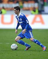 FUSSBALL   1. BUNDESLIGA  SAISON 2011/2012   32. Spieltag FC Augsburg - FC Schalke 04         22.04.2012 Sergio Escudero Palomo (FC Schalke 04)
