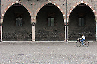 Veduta esterna del Palazzo Ducale a Mantova.<br /> Exterior of Palazzo Ducale in Mantua.<br /> UPDATE IMAGES PRESS/Riccardo De Luca