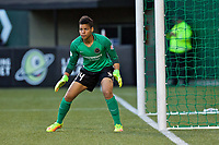 Portland, OR - Saturday May 06, 2017: Adrianna Franch during a regular season National Women's Soccer League (NWSL) match between the Portland Thorns FC and the Chicago Red Stars at Providence Park.