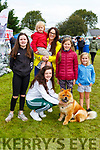 Niamh Fleming front with standing l-r Emma and Caoimhe O'Brien, Ethan Feming, Trish Fleming and Fay O'Brien  at the Killarney Dog show on Tuesday