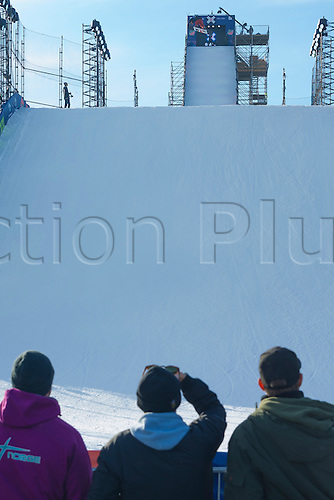26.02.2016. Wyller Oslo Winter Park, Oslo, Norway. Red Bull X Games. Mens Snowboard Big Air  Round 1. spectator enjoying the atmosphere during the men's Snowboard Big Air Elimination   during the X Games Oslo 2016 at the Wyller Oslo winter park in Oslo, Norway.