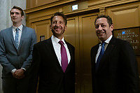 Felix Sater, a former business associate to United States President Donald J. Trump, arrives to his closed door testimony before the House Intelligence Committee on Capitol Hill in Washington D.C., U.S. on July 9, 2019.  The committee issued a subpoena after he failed to appear to his scheduled testimony in June, where he was set to speak about his involvement in the Trump Tower Moscow project.<br /> CAP/MPI/RS<br /> ©RS/MPI/Capital Pictures
