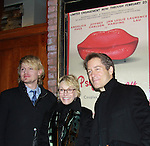 "Search for Tomorrow Sandy Duncan poses with AMC Jeffrey Carlson and friend Laurence Lau ""Greg Nelson, OLTL Sam Rappaport, Another World ""Jamie Frame"" and As The World Turns on opening night of Psycho Therapy on February 7, 2012 at the Cherry Lane Theatre, New York City, New York. After party at Sushi Samba, NYC. (Photo by Sue Coflin/Max Photos)"