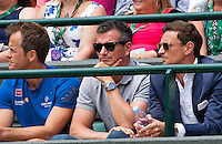 London, England, 28 june, 2016, Tennis, Wimbledon, Richard Krajicek (NED) (M) coach of Stanislas Wawrinka (SUI)<br /> Photo: Henk Koster/tennisimages.com