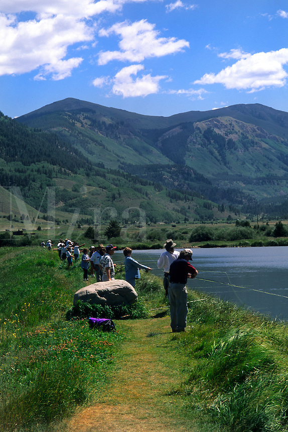 Fly fishing Tourament in summer in Vail Colorado US