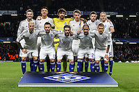 The Dynamo Kyiv team ahead of the UEFA Champions League Group match between Chelsea and Dynamo Kyiv at Stamford Bridge, London, England on 4 November 2015. Photo by David Horn.