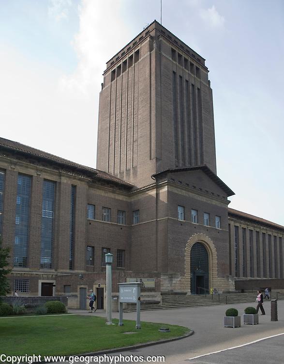 University library building Cambridge, England designed by architect Giles Gilbert Scott 1930s
