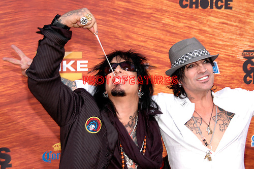 Motley Crue - Nikki Sixx and Tommy Lee at the 2nd Annual Guys Choice Awards at Sony Studios in Los Angeles on May 30th, 2008