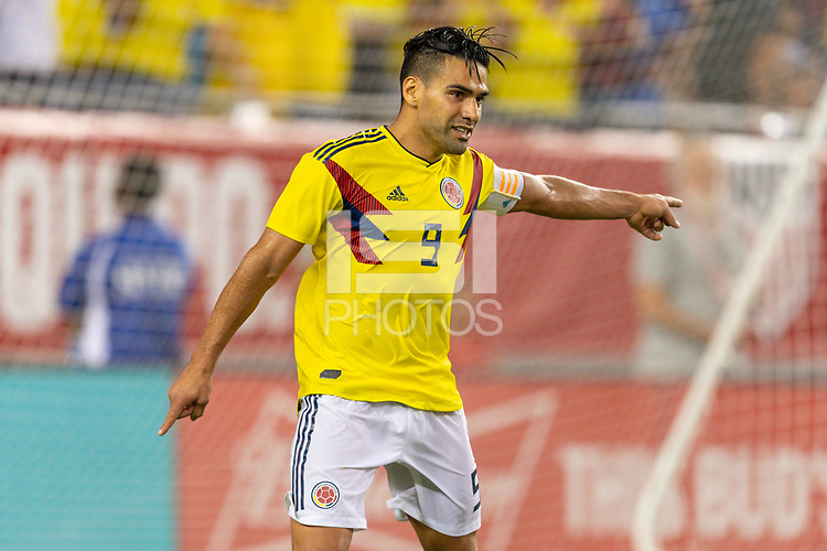 Tampa, FL - Thursday, October 11, 2018: Radamel Falcao, Goal celebration during a USMNT match against Colombia.  Colombia defeated the USMNT 4-2.