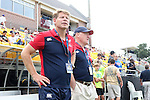 17 August 2013: U.S. head coach Mike Tolkin (left). The United States Men's National Rugby Team played the Canada Men's Nationa Rugby Team at Blackbaud Stadium in Charleston, South Carolina in the first leg of their 2015 Rugby World Cup Qualifying Series. Canada won the game 27-9.