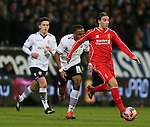 Lazar Markovic of Liverpool surges forward - FA Cup Fourth Round replay - Bolton Wanderers vs Liverpool - Macron Stadium  - Bolton - England - 4th February 2015 - Picture Simon Bellis/Sportimage