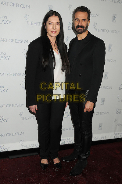 10 January 2015 - Santa Monica, California - Marina Abramovic, Ennio Capasa. The Art of Elysium&rsquo;s 8th Annual Heaven Gala held at Hangar 8.   <br /> CAP/ADM/BP<br /> &copy;Byron Purvis/AdMedia/Capital Pictures
