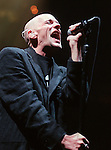BOSTON--Michael Stipe of the band REM sings during their concert at the New Boston Garden Tuesday night..RESTRICTED USE.NOT FOR REPBULICATION WITHOUT EXPLICIT APPROVAL FROM DIRECTOR OF PHOTOGRAPHY
