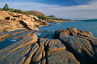 Newport Bay,  Sand Beach and the Beehive<br /> Acadia National Park<br /> Mount Desert Island<br /> Maine,  New England