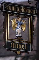 "Europe/Allemagne/Forêt Noire/Glottertal : Enseigne de l'hôtel-restaurant ""A L'Ange d'Or"""