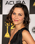 LOS ANGELES, CA. - March 05: Actress Maggie Gyllenhaal arrives at the 25th Film Independent Spirit Awards held at Nokia Theatre L.A. Live on March 5, 2010 in Los Angeles, California.