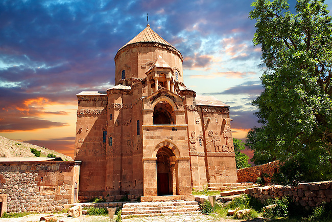 10th century Armenian Orthodox Cathedral of the Holy Cross on Akdamar Island, Lake Van Turkey 63