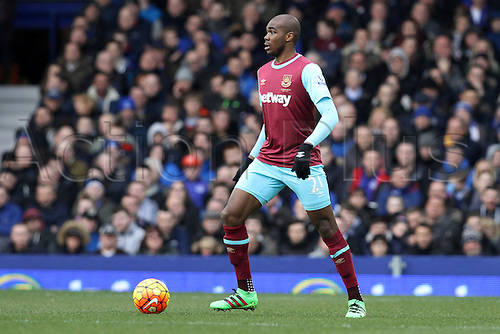 05.03.2016. Goodison Park, Liverpool, England. Barclays Premier League. Everton versus West Ham. Angelo Ogbonna Obinze of West Ham United in possession.
