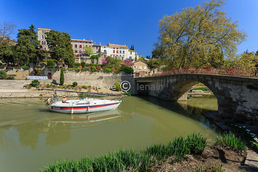 France, Aude (11), Ventenac-en-Minervois, Canal du Midi classé Patrimoine Mondial de l'UNESCO // France, Aude, Ventenac-en-Minervois, the Canal du Midi listed as World Heritage by UNESCO,