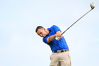 Ian O'Rourke (The Royal Dublin) on the 6th tee during the Quarter Finals of The South of Ireland in Lahinch Golf Club on Tuesday 29th July 2014.<br /> Picture:  Thos Caffrey / www.golffile.ie