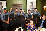 New York, NY - January 31, 2018: Osteria Chef Jeff Michaud leads a team of chefs from URBN's Terrain Garden Centers in hosting a dinner entitled 'Winter Garden' at the James Beard House.<br /> <br /> CREDIT: Clay Williams for The James Beard Foundation.<br /> <br /> &copy;Clay Williams / http://claywilliamsphoto.com