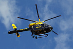 Pix: Shaun Flannery/shaunflanneryphotography.com...COPYRIGHT PICTURE>>SHAUN FLANNERY>01302-570814>>07778315553>>..7th May 2011...............South Yorkshire Police helicopter, Sierra Yankee 99.