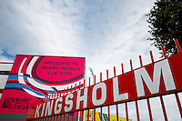 General View outside the stadium - Mandatory byline: Rogan Thomson - 23/09/2015 - RUGBY UNION - Kingsholm Stadium - Gloucester, England - Scotland v Japan - Rugby World Cup 2015 Pool B.