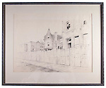 2014.1.69 <br /> Ducatel Street. <br /> Not dated.<br /> Pencil on paper by Jacob Glushakow (1914-2000).<br /> 23 x 27.875 inches<br /> Glushakow Collection<br /> Museum Department