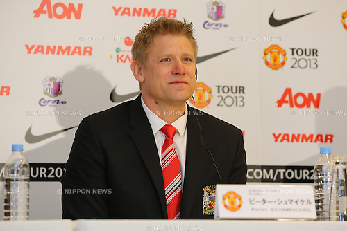 Peter Schmeichel, .FEBRUARY 7, 2013 - Football / Soccer : .A press conference about Pre season match between Cerezo Osaka and Manchester United, .at Nagai Stadium in Osaka, Japan. It will take place on the July 26 as a part of Manchester United 2013 tour. (Photo by Akihiro Sugimoto/AFLO SPORT)