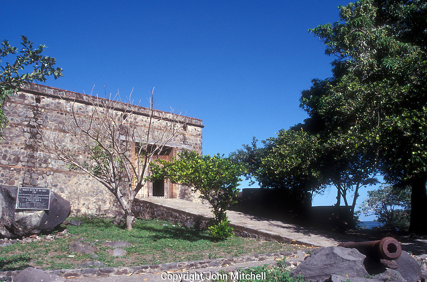 Castillo San Pablo, an 18th century Spanish fort in Las Isletas near Granada, Nicaragua