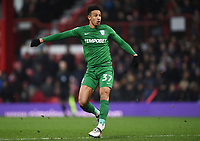 Preston's Callum Robinson<br /> <br /> Photographer Jonathan Hobley/CameraSport<br /> <br /> The EFL Sky Bet Championship - Brentford v Preston North End - Saturday 10th February 2018 - Griffin Park - Brentford<br /> <br /> World Copyright &copy; 2018 CameraSport. All rights reserved. 43 Linden Ave. Countesthorpe. Leicester. England. LE8 5PG - Tel: +44 (0) 116 277 4147 - admin@camerasport.com - www.camerasport.com