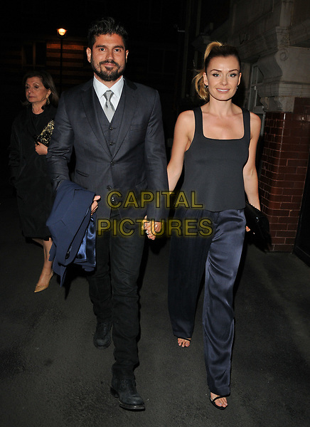 Andrew Levitas and Katherine Jenkins at the &quot;Carousel&quot; theatre cast departures, London Coliseum, St Martin's Lane, London, England, UK, on Saturday 15 April 2017.<br /> CAP/CAN<br /> &copy;CAN/Capital Pictures