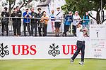 Edoardo Molinari of Italy tees off during the day four of UBS Hong Kong Open 2017 at the Hong Kong Golf Club on 26 November 2017, in Hong Kong, Hong Kong. Photo by Marcio Rodrigo Machado / Power Sport Images