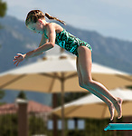 SLCC's Elizabeth Beck competes during the 53rd annual Country Club League diving championships Wednesday, Aug. 8, 2012, in Sandy, Utah. (© 2012 Douglas C. Pizac)