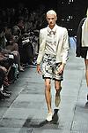 Spring/Summer 2014 Collection of Japanese fashion brand ATSUSHI NAKASHIMA on October 18, 2013, in Tokyo.