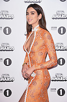 Dua Lipa<br /> at the Radio 1 Teen Awards 2016, Wembley Arena, London.<br /> <br /> <br /> ©Ash Knotek  D3188  22/10/2016