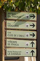 Clos Mogador, Celler Clos de l'Obac, Vinedos de Ithaca, Arrels del Priorat. Priorato, Catalonia, Spain
