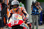 hertz british grand prix during the world championship 2014.<br /> Silverstone, england<br /> August 28, 2014. <br /> FP MotoGP<br /> Box<br /> marc marquez<br /> PHOTOCALL3000/ RME