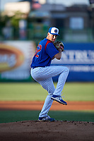 South Bend Cubs starting pitcher Bryan Hudson (52) delivers a pitch during a game against the Clinton LumberKings on May 5, 2017 at Four Winds Field in South Bend, Indiana.  South Bend defeated Clinton 7-6 in nineteen innings.  (Mike Janes/Four Seam Images)