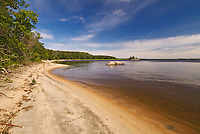Sandy neach on an Island in Lake of the Woods<br />Kenora District<br />Ontario<br />Canada